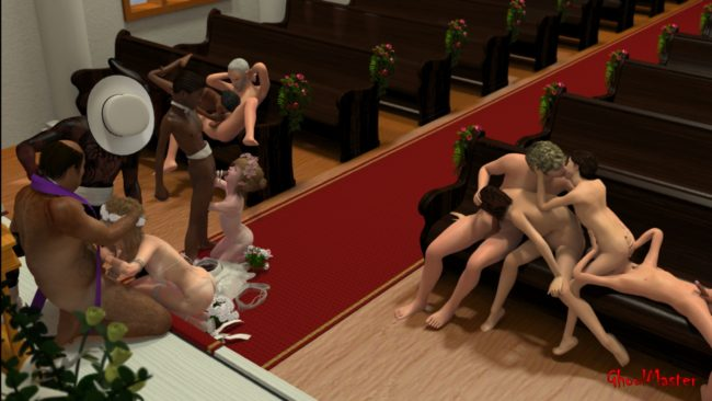 Unconventional Wedding Lolicon Shotacon 3D Images (16)